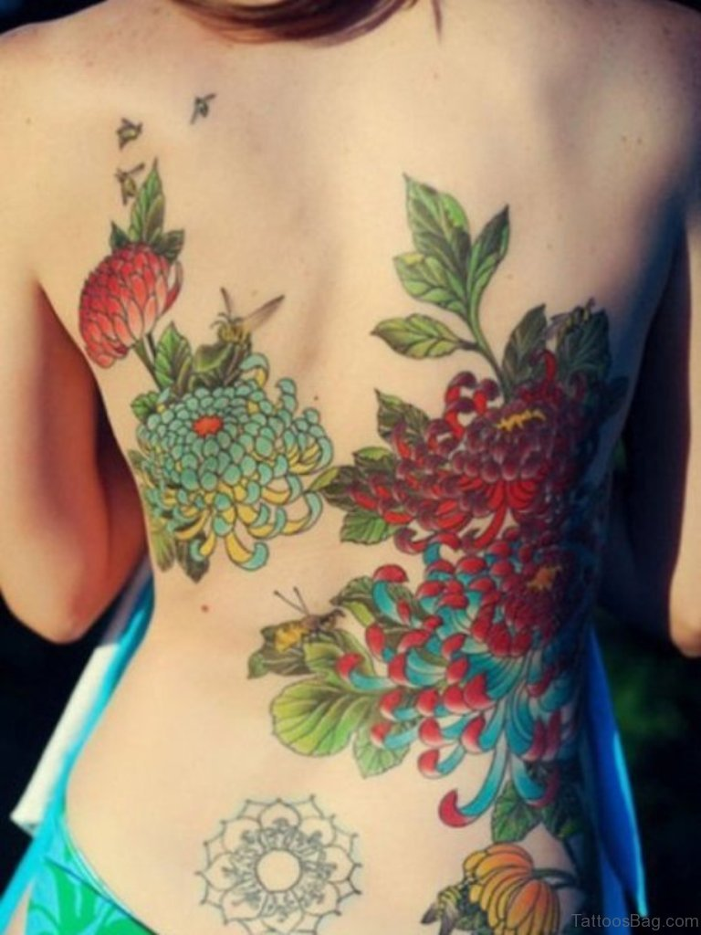 70 lovely flowers tattoos on back beautiful flower tattoo design izmirmasajfo