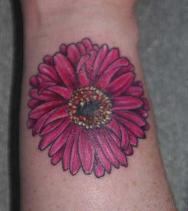 Beautiful Flower Tattoo On Wrist