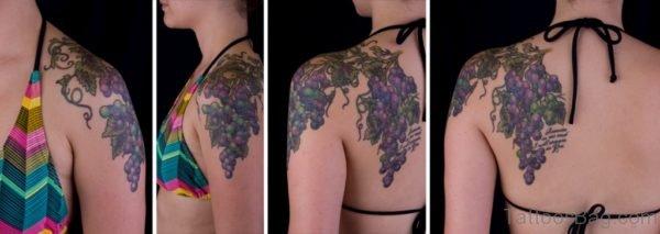Beautiful Fruit Vine Shoulder Tattoo