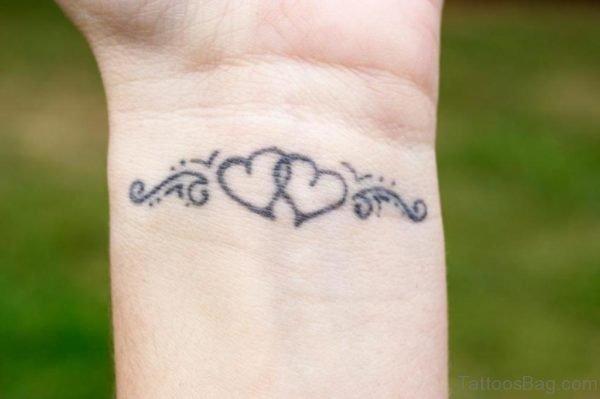 Beautiful Heart Tattoo On Wrist