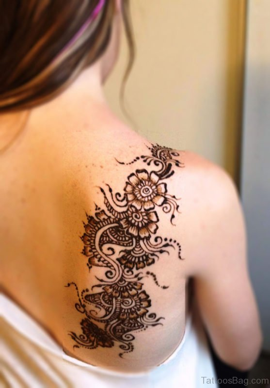 Beautiful Henna Tattoo On Back