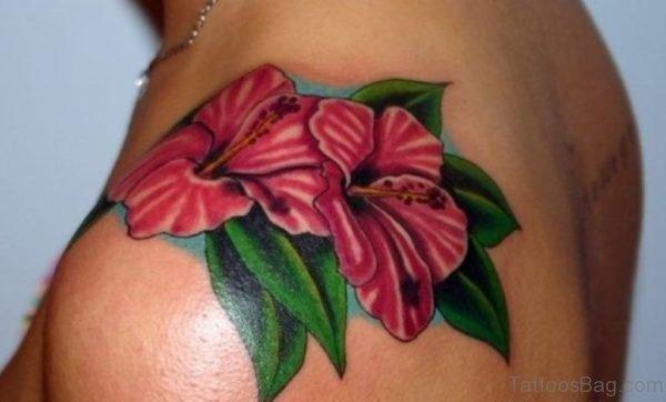 Beautiful Hibiscus Flower Tattoo