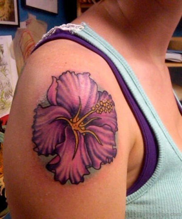 Beautiful Hibiscus Tattoo