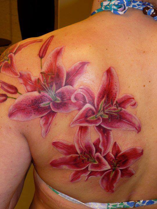 Beautiful Lily Flower Tattoo
