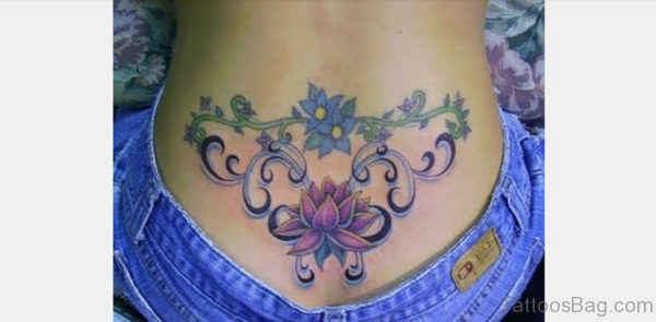 Beautiful Lotus Flower Tattoo