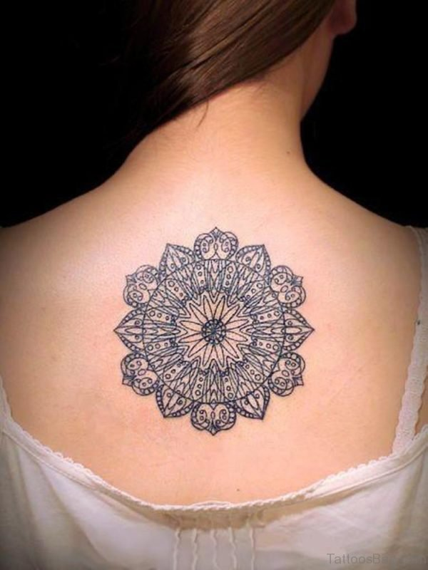 Beautiful Mandala Tattoo On Back