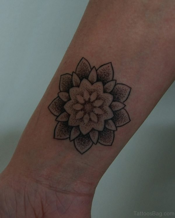 Beautiful Mandala Tattoo On Wrist