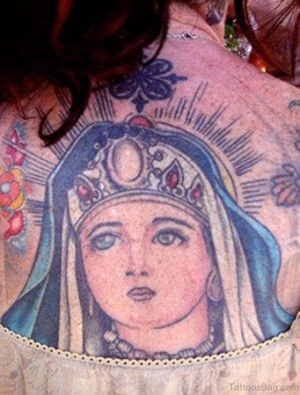 Beautiful Mary Tattoo Design