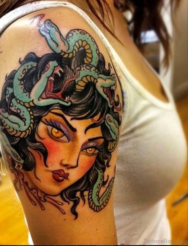 Beautiful Medusa Tattoo