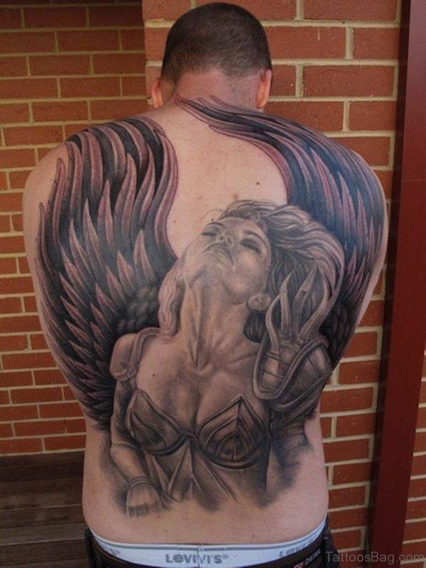 Beautiful Memorial Angel Tattoo