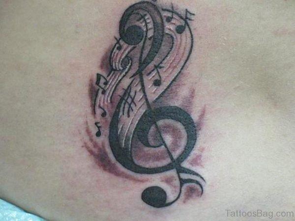 Beautiful Music Note Tattoo