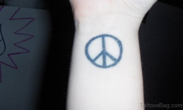 Beautiful Peace Sign Tattoo
