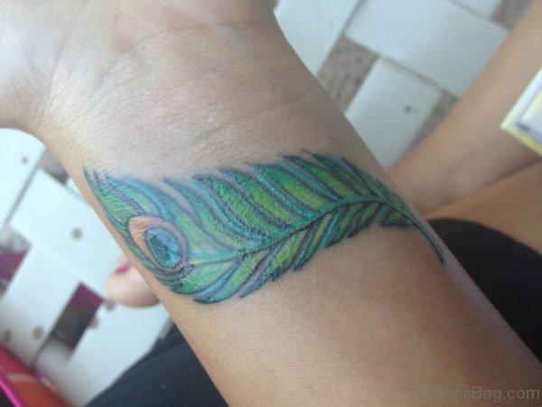 Beautiful Peacock Feather Tattoo
