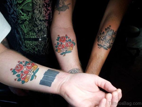 Beautiful Red Flower Tattoo On Wrist
