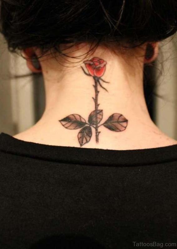 Beautiful Rose Tattoo For Women