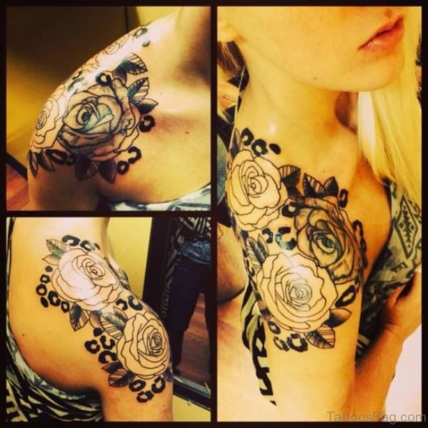Beautiful Roses Tattoo For Women