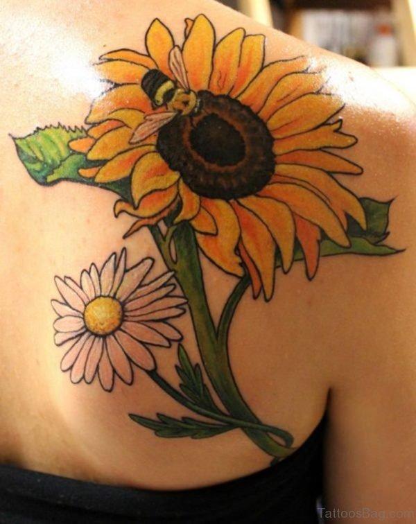 Beautiful Sunflower Tattoo