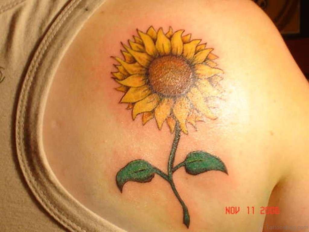 85 Pretty Sunflower Tattoos Designs For Back