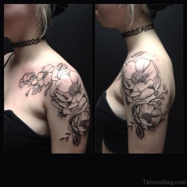 Beautiful Vintage Shoulder Tattoo