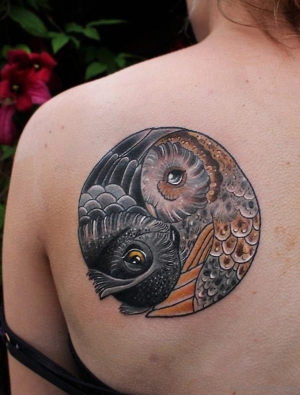 Beautiful Yin Yang Shoulder Tattoo