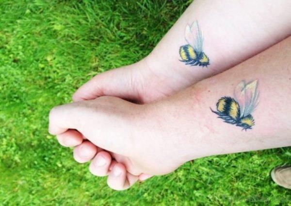 Bees Tattoo On Wrist