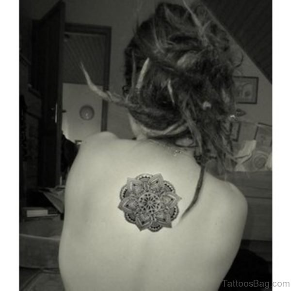 Best Girl Upperback Mandala Tattoo