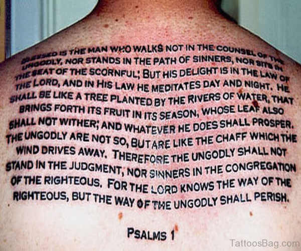 Bible Verses Tattoo Design On Back