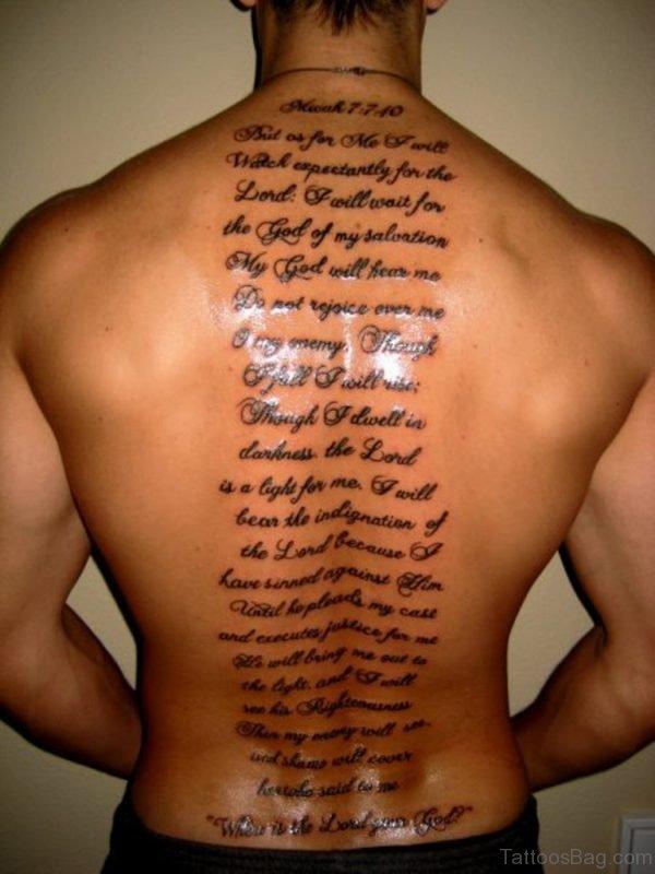 Bible Verses Tattoo On Full Back