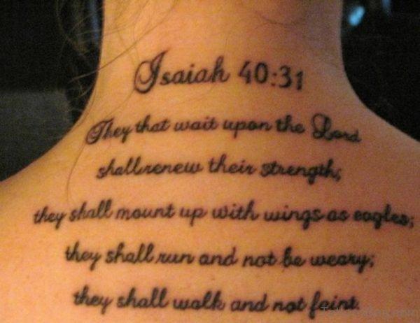 Bible Verses  Tattoo