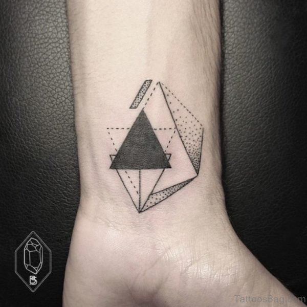 Bicem Siniik Geometric Tattoo On Wrist