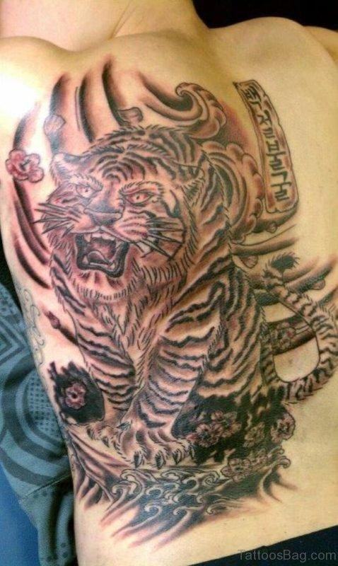 Big Asian Tiger Tattoo