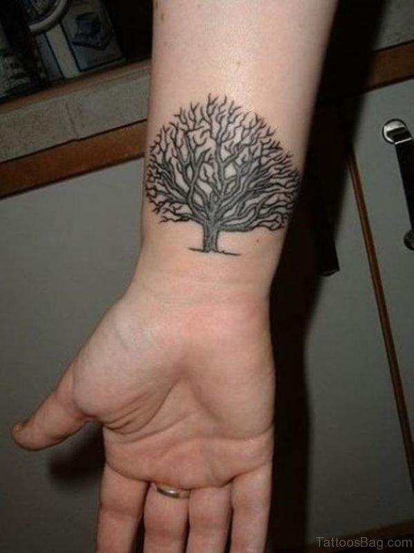Big Tree Tattoo On Wrist