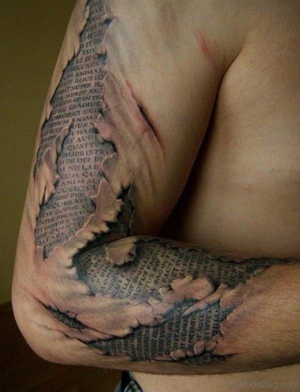 Bio Mechanical  Wording Tattoo
