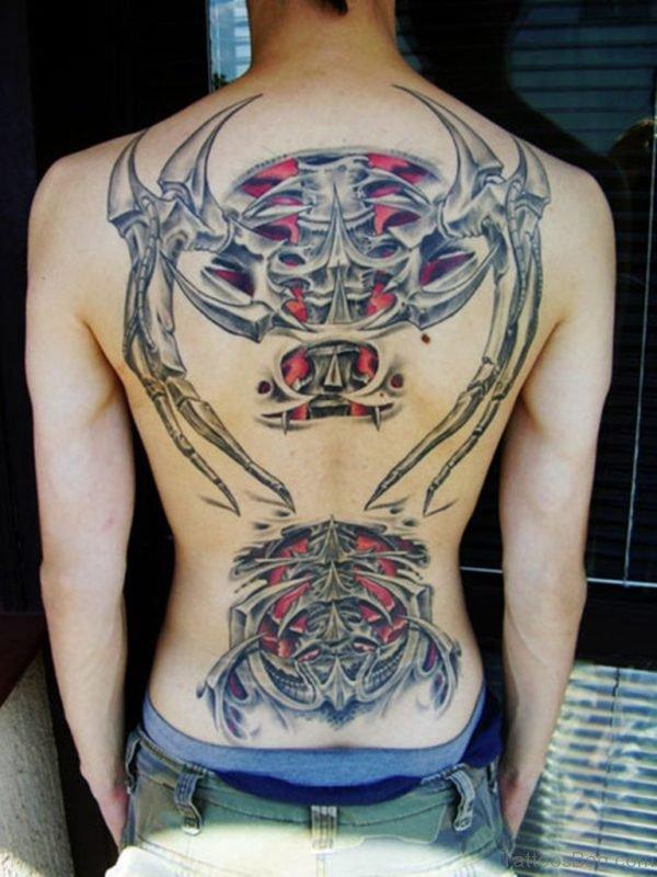 Biomechanical Back Tattoo