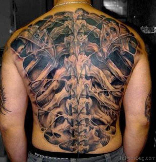 Biomechanical Tattoo On Back