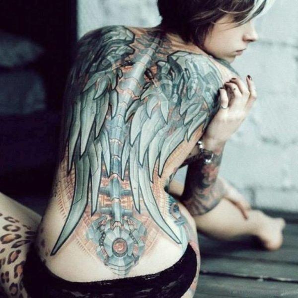 Biomechanical Wings  Tattoo