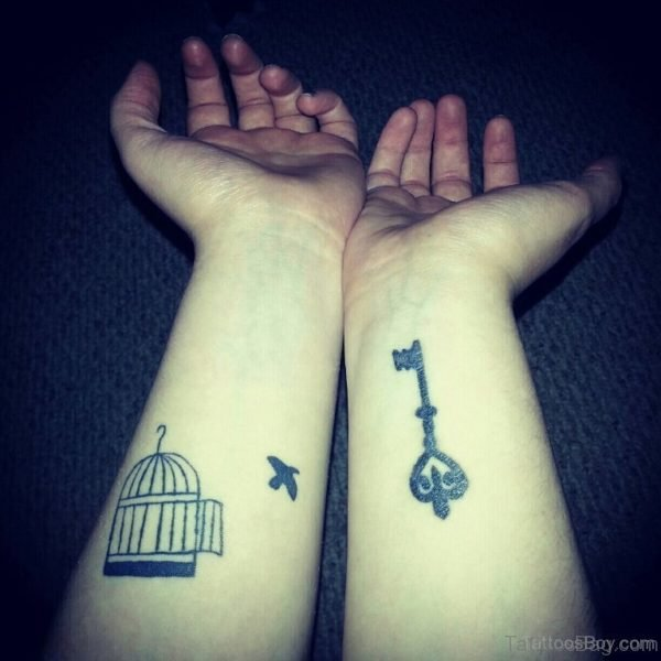Bird Cage And Key Tattoo