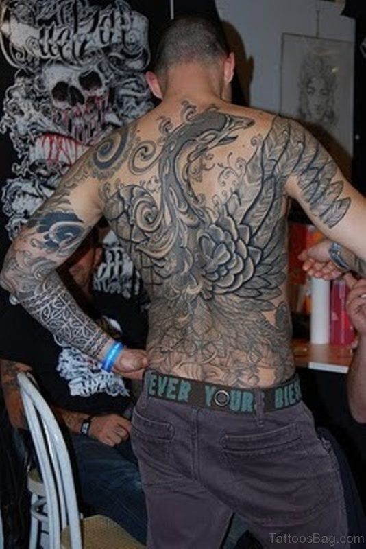 Bird Tattoo On Full Back