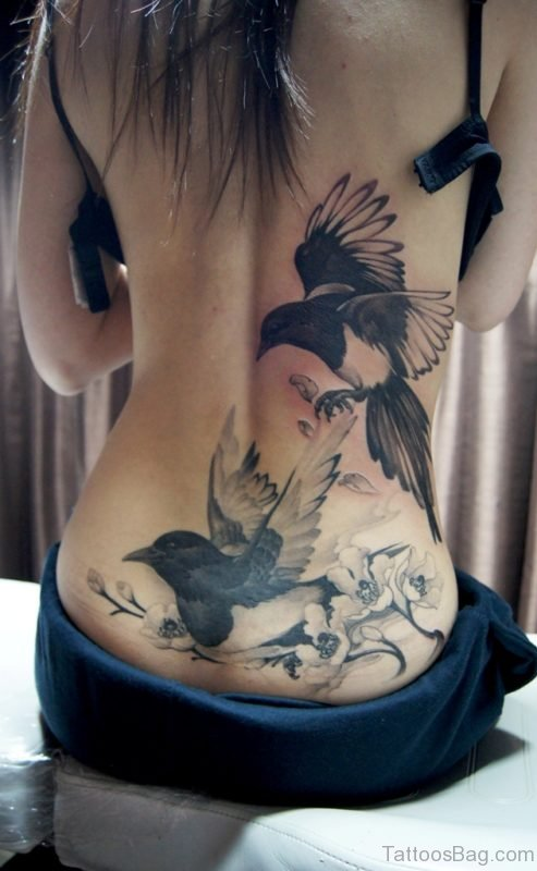 Bird Tattoo On Lower Back