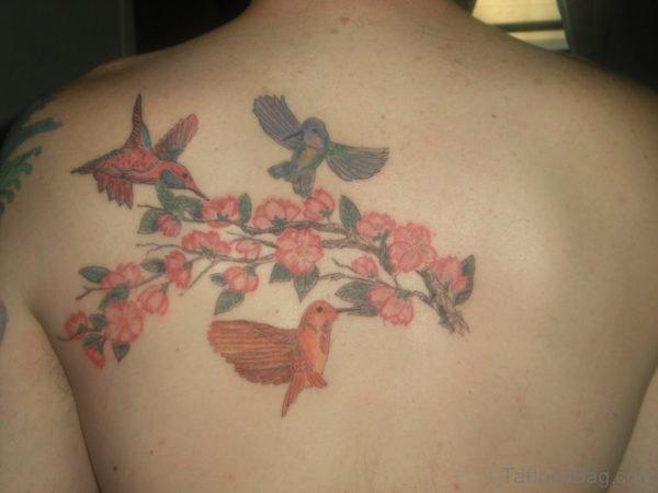 Birds And Cherry Blossom Tattoo