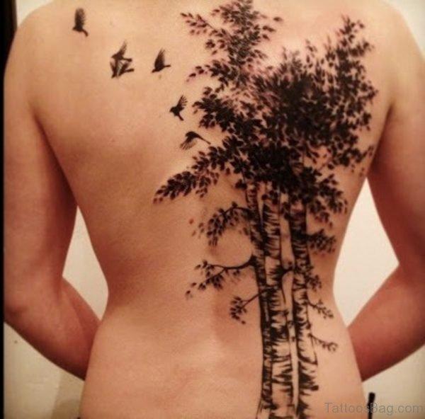 Birds And Tree Tattoo