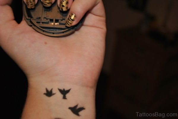 Birds Tattoo Design On Wrist