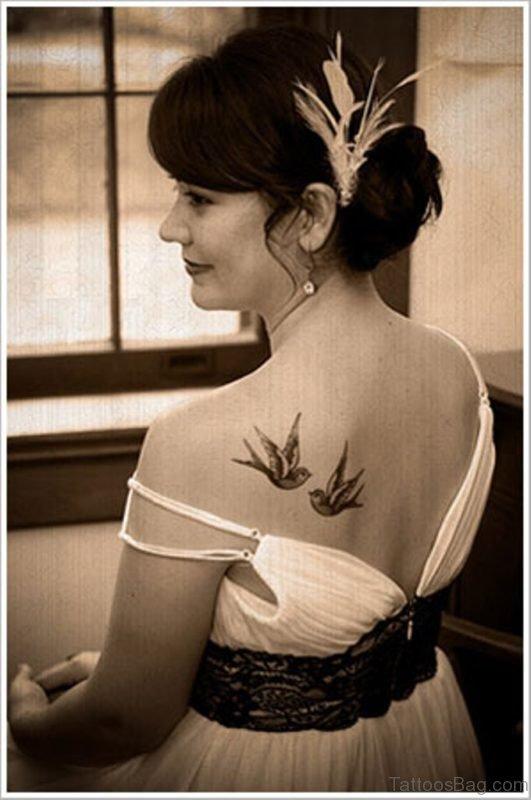 Birds Tattoo On Back