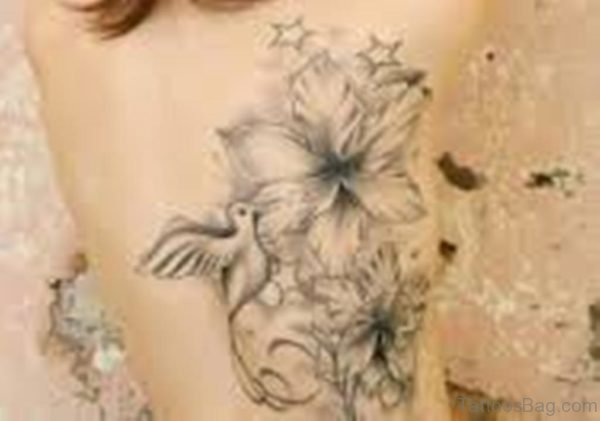 Birds Tattoo On Full Back-TB1028