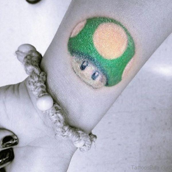 Black 1 Up Wrist Tattoo