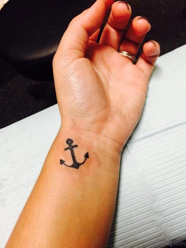 Black Anchor Tattoo