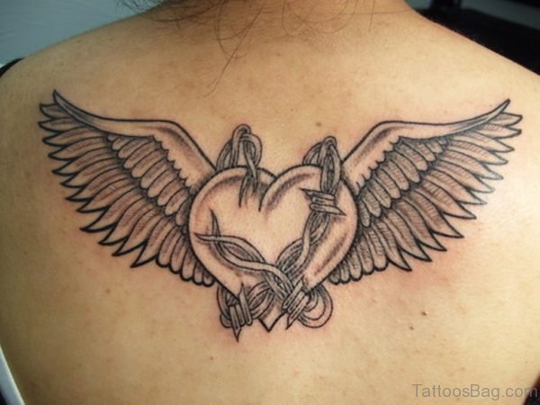 Black And Grey Gothic Heart Tattoo