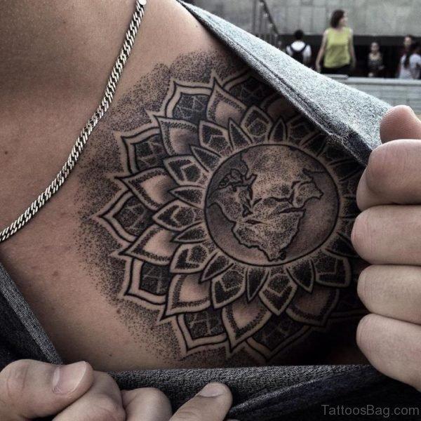 Black And Grey Yin Yang Tattoo