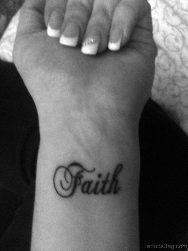 Black And White Faith Tattoo