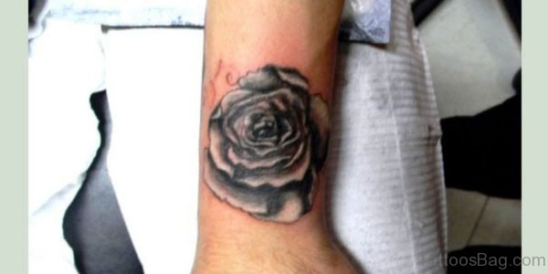 Black And White Rose Tattoo